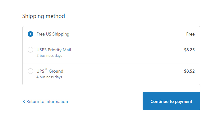 Shipping Methods for Shopify Store