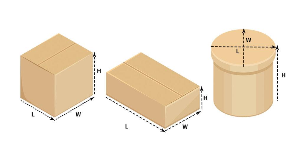 volumetric weight - length-width-height