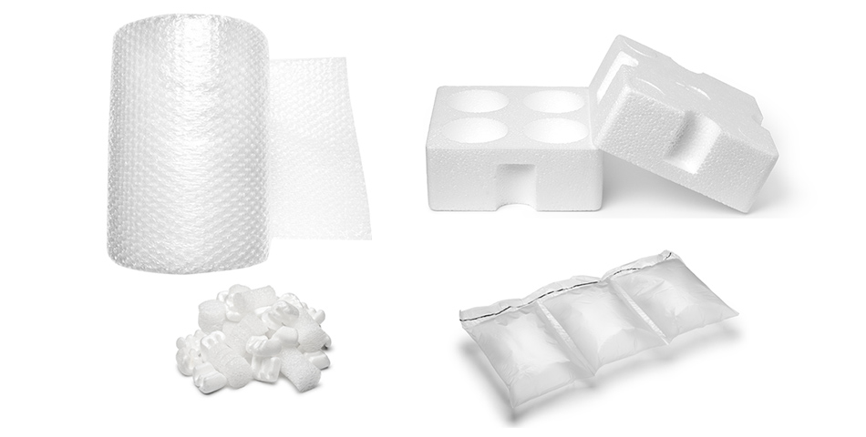 Custom pads and partitions, Bubble wraps, Air pillows