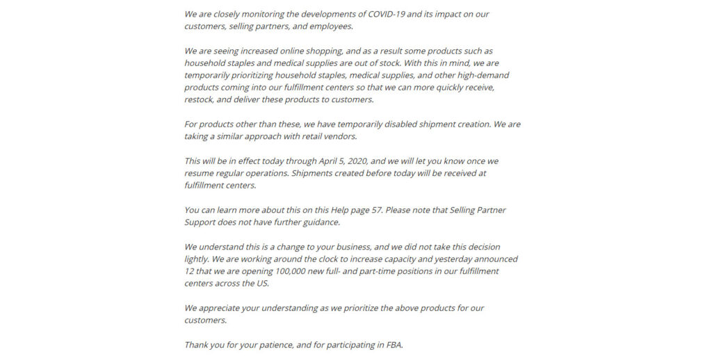 Amazon's full announcement
