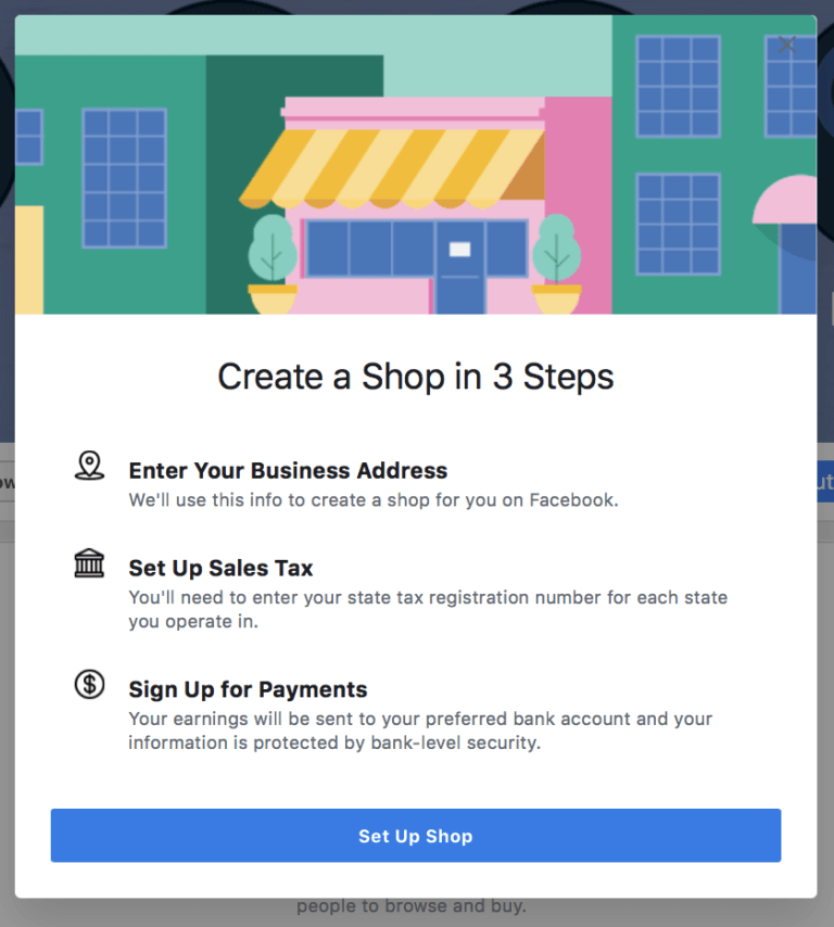 Create a Facebook Shop in 3 Steps