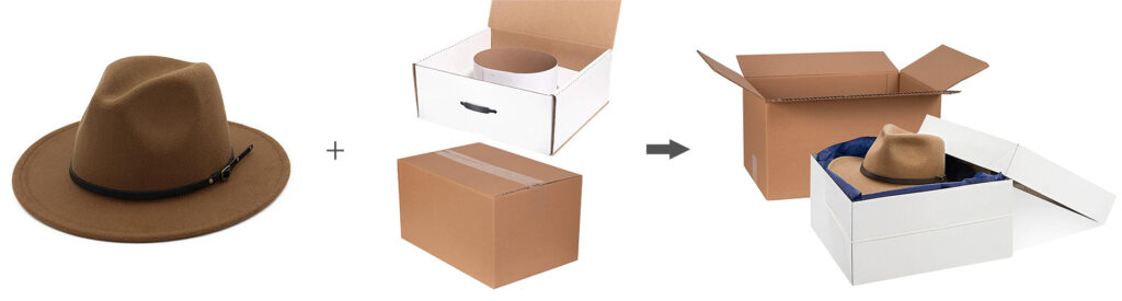 The cardboard boxes protect the products from being crumpled by external forces